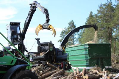 Tocator biomasa cu tambur Kesla C 860