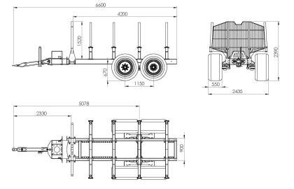 Semiremorca BMF 14T2 Pro