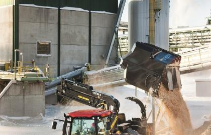 Tocator biomasa cu tambur Kesla C645C container biomasa